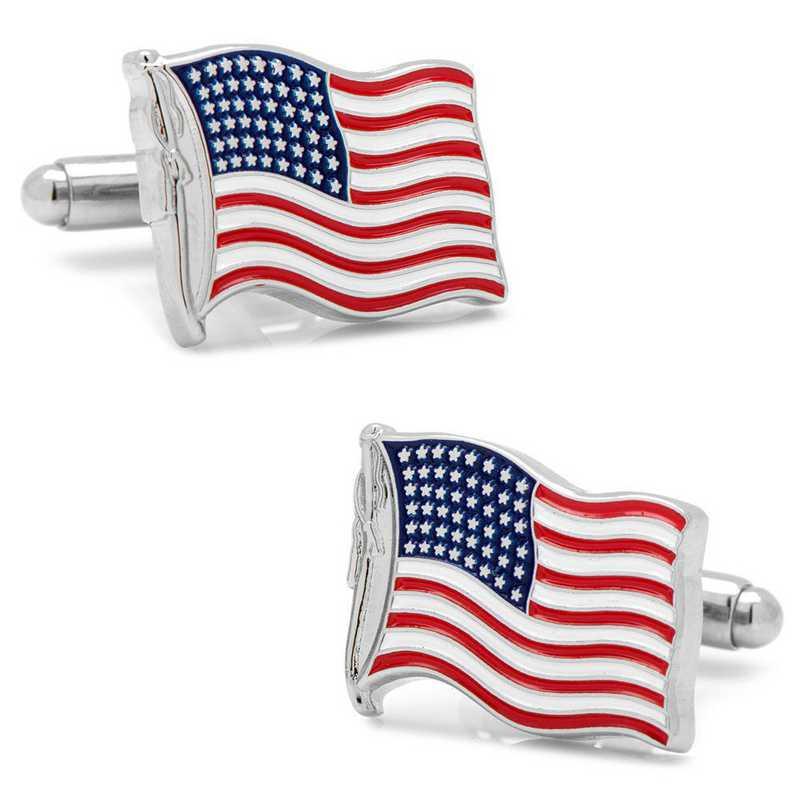 CC-USWF-SL: Waving American Flag Cufflinks