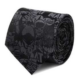 DC-BATC-BK-TR: Batman Comic Black Tie