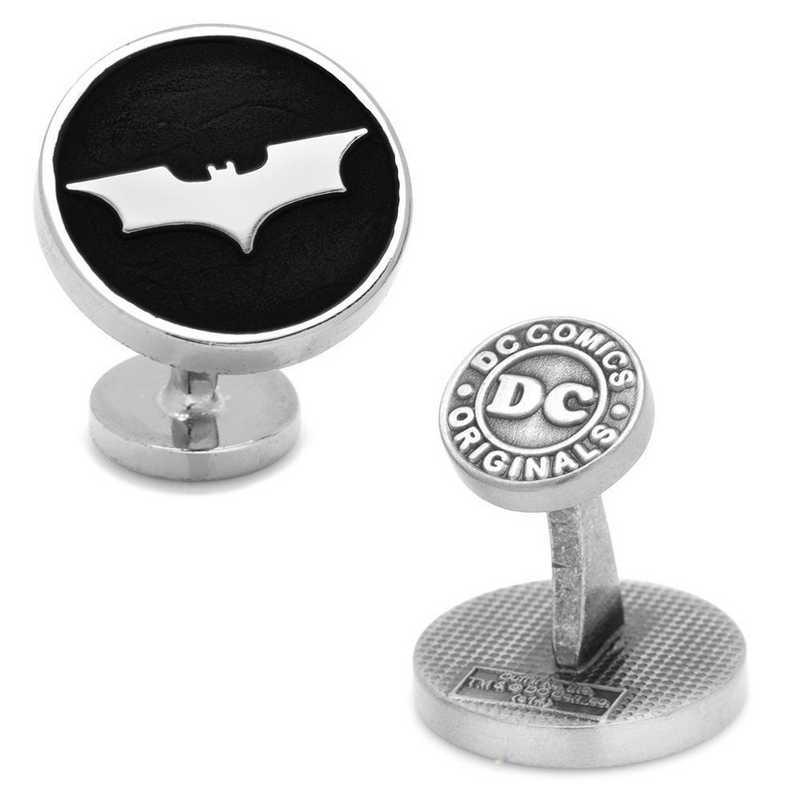DC-BMDKR-BK: Recessed Black Batman Dark Knight Cufflinks