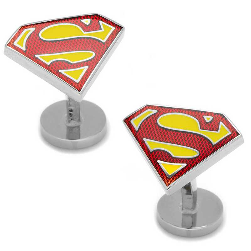DC-SSTE-SL: Textured Superman Shield Cufflinks