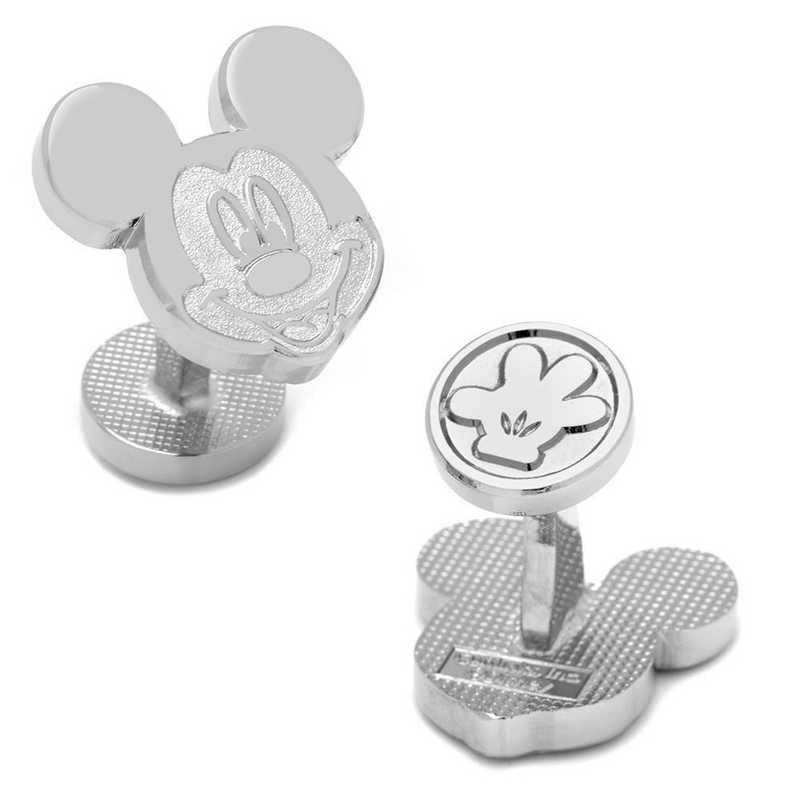DN-MCKYHS-SL: Silver Mickey Mouse Cufflinks