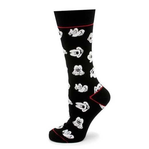 DN-MEXP-BK-SC: Mickey Mouse Expressions Black Socks