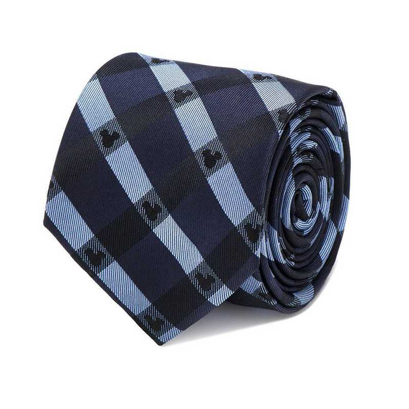 DN-MPLD-BL-TR: Mickey Mouse Blue Plaid  Tie