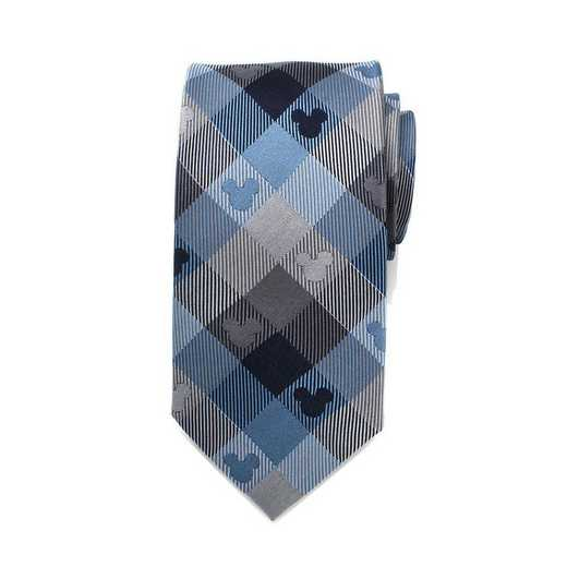 DN-MPLD2-BL-TR: Mickey Mouse Blue Plaid Mens Tie