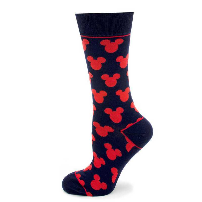 DN-MSILH-BL-SC: Mickey Mouse Silhouette Blue Socks