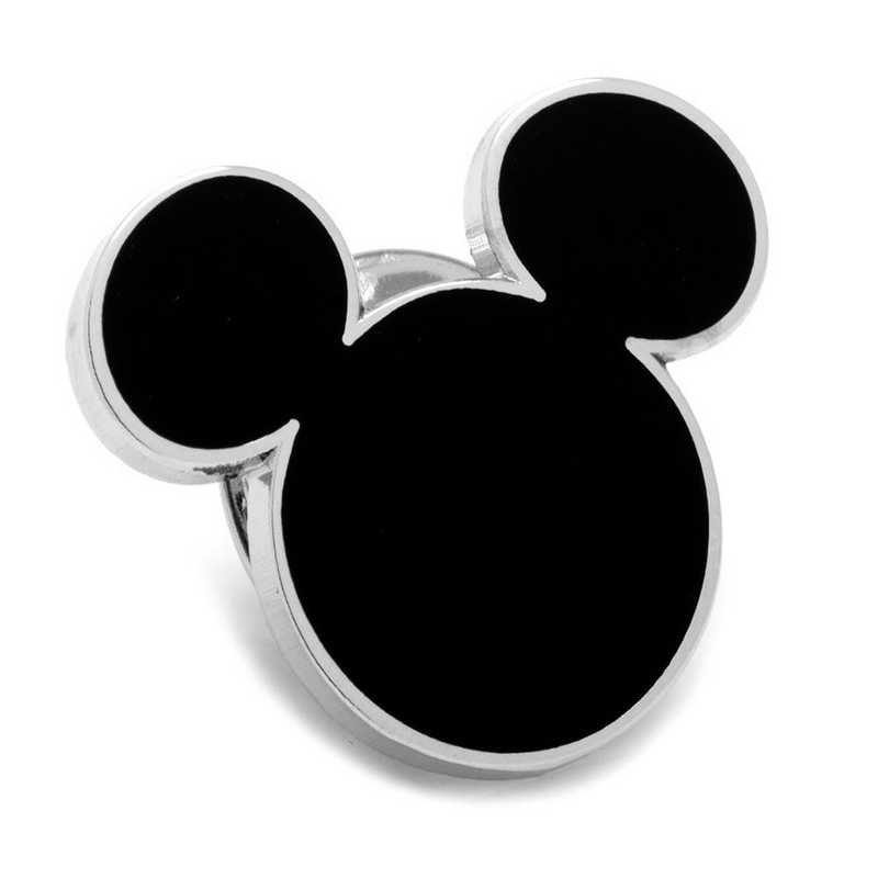 DN-MSILH-LP: Black Mickey Mouse Silhouette Lapel Pin