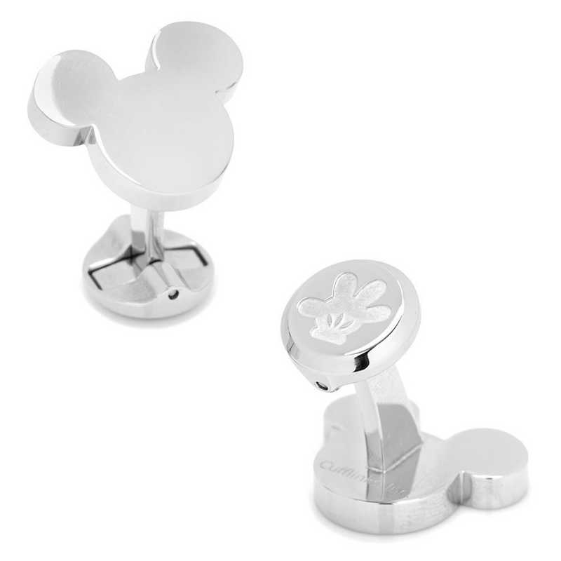 DN-MSILH-STL: Stainless Steel Mickey Mouse Silhouette Cufflinks