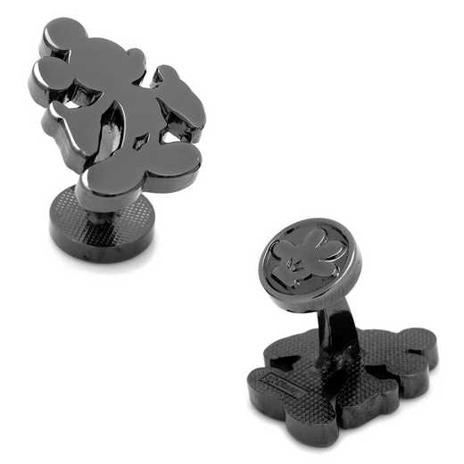 DN-MSILH2-BK: Black Mickey Mouse Silhouette Cufflinks
