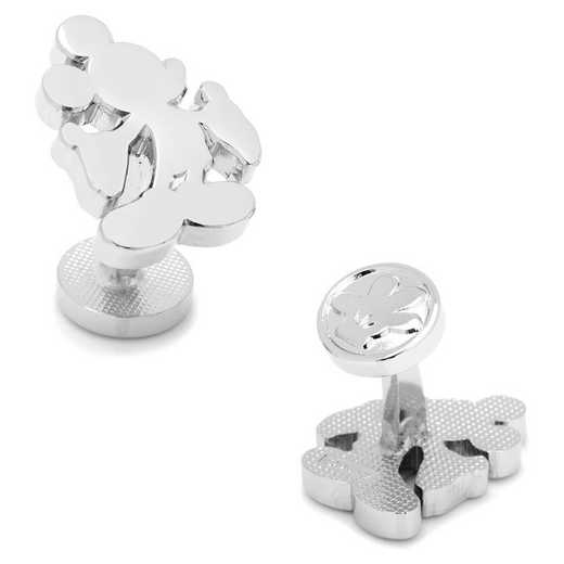 DN-MSILH2-SL: Silver Mickey Mouse Silhouette Cufflinks