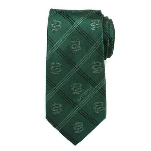 HP-SLYPLD-GRN-TR: Slytherin Plaid Tie