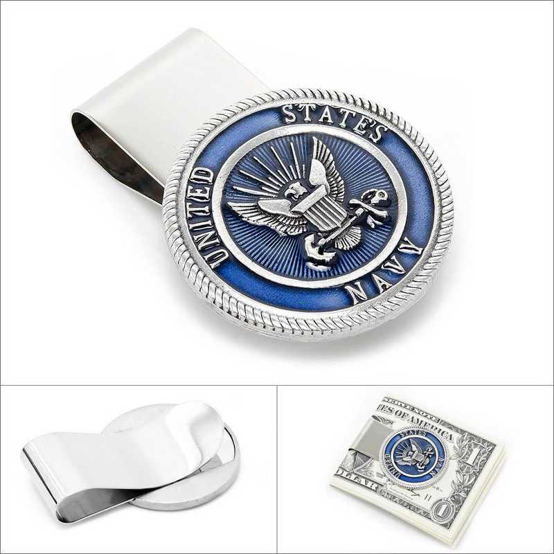 MC3154EB: Pewter U.S. Navy Money Clip
