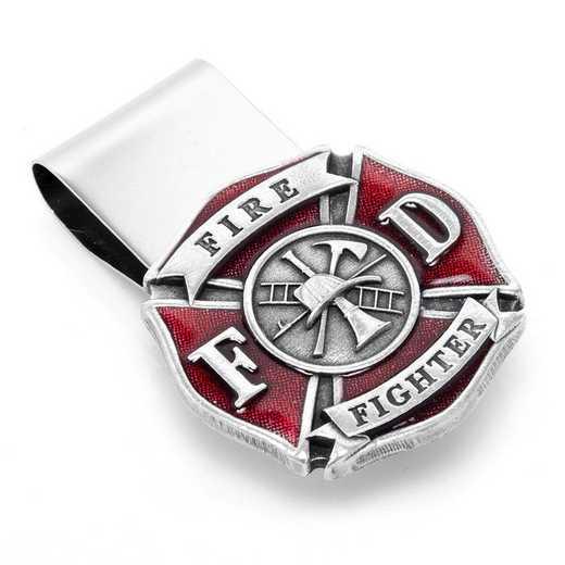 MC3216ER: Enamel Firefighter Money Clip