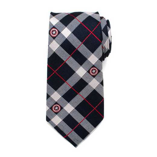 MV-CAPLD-BL-TR: Captain America Blue Plaid Tie