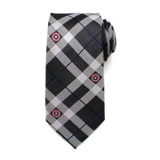 MV-CAPLD-GRY-TR: Captain America Gray Plaid Tie