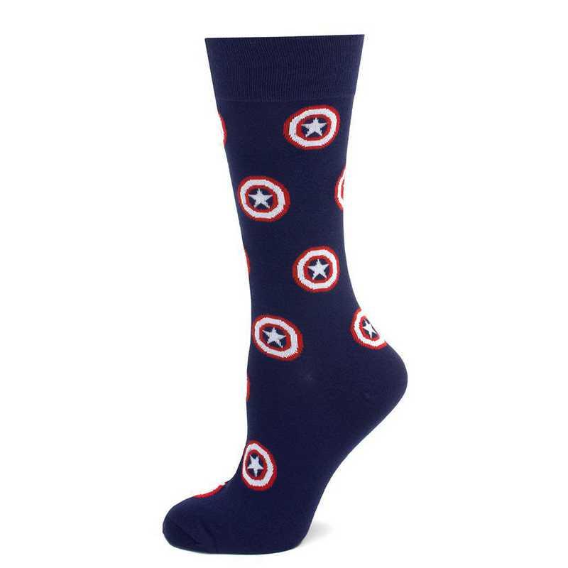 MV-CAS-BL-SC: Captain America Navy Socks