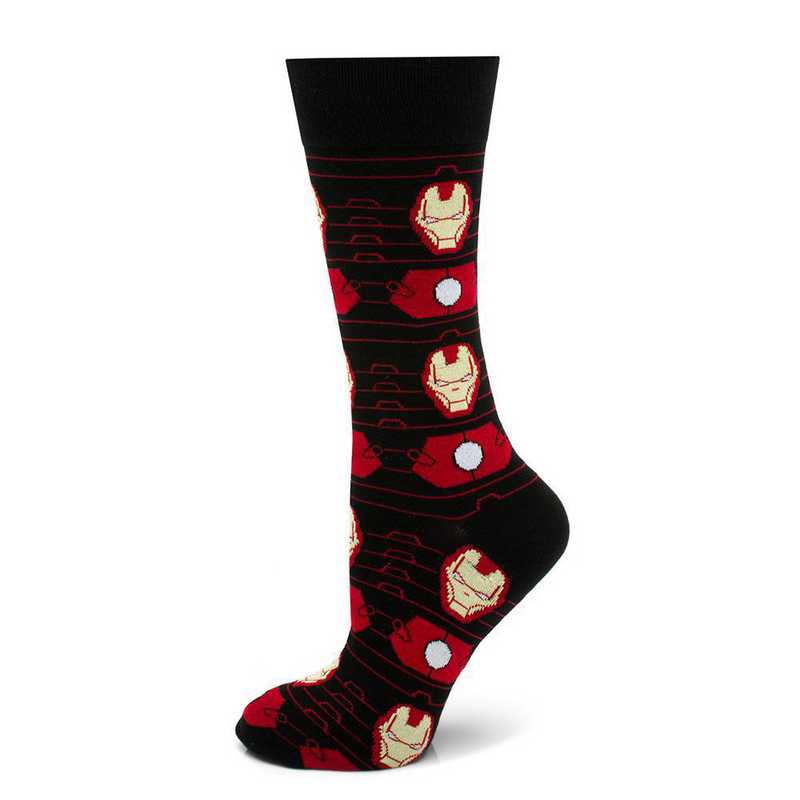 MV-IRMS-BK-SC: Iron Man Stripe Black Socks