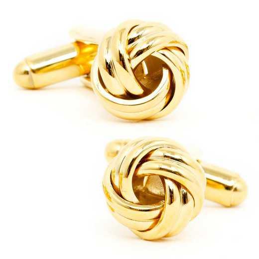 OB-KNT-GL: Gold Knot Cufflinks