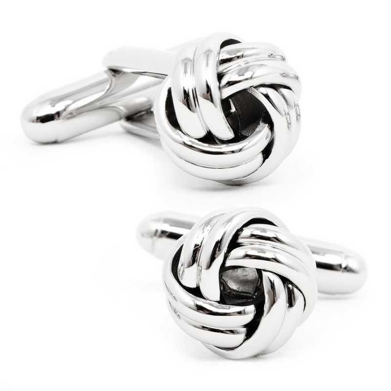 OB-KNT-SL: Silver Knot Cufflinks