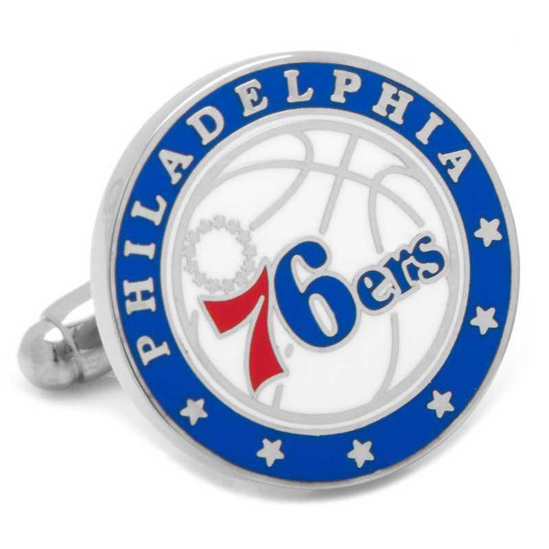 PD-76ER-SL: Philadelphia 76ers Cufflinks