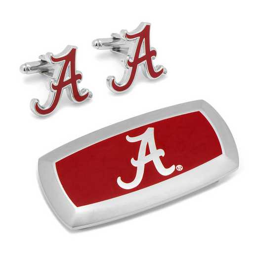PD-ALA-CM2: Alabama Crimson Tide Cufflinks and Cushion Money Clip Set