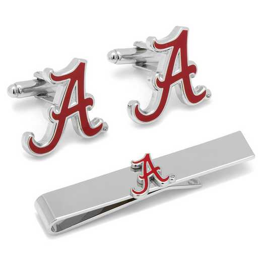 PD-ALA-CT: Alabama Crimson Tide Cufflinks and Tie Bar Gift Set