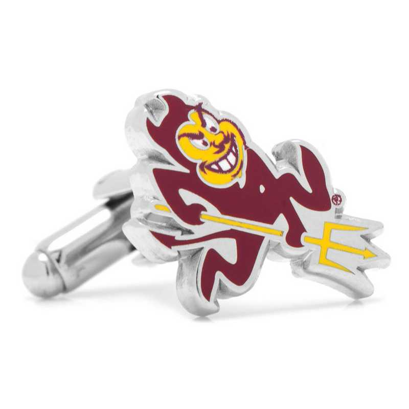 PD-ASUS-SL: Arizona State University Sparky Cufflinks