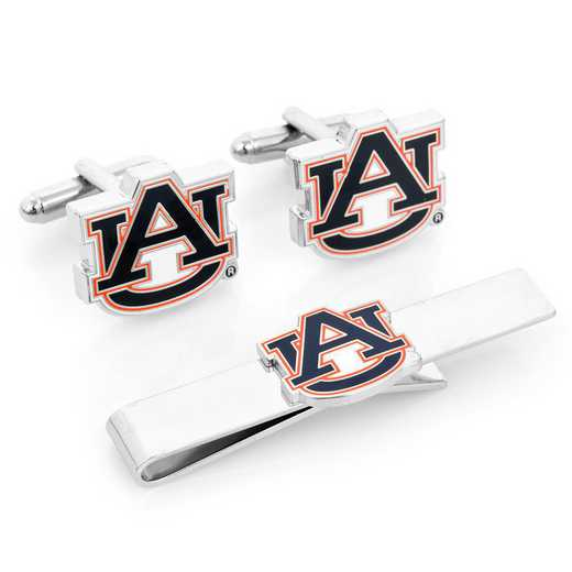 PD-AUB-CT: Auburn University Tigers Cufflinks and Tie Bar Gift Set