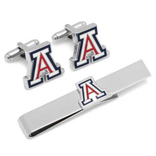 PD-AZ-CT: University of Arizona Cufflinks and Tie Bar Gift Set
