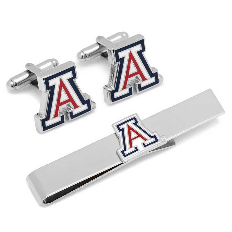 PD-AZ-CT: University of Arizona Cufflinks and Tie Bar Gift Set
