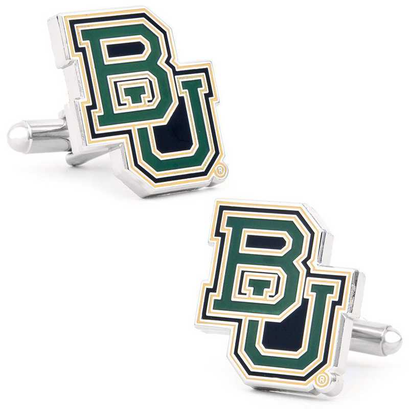 PD-BU-SL: Baylor University Bears Cufflinks