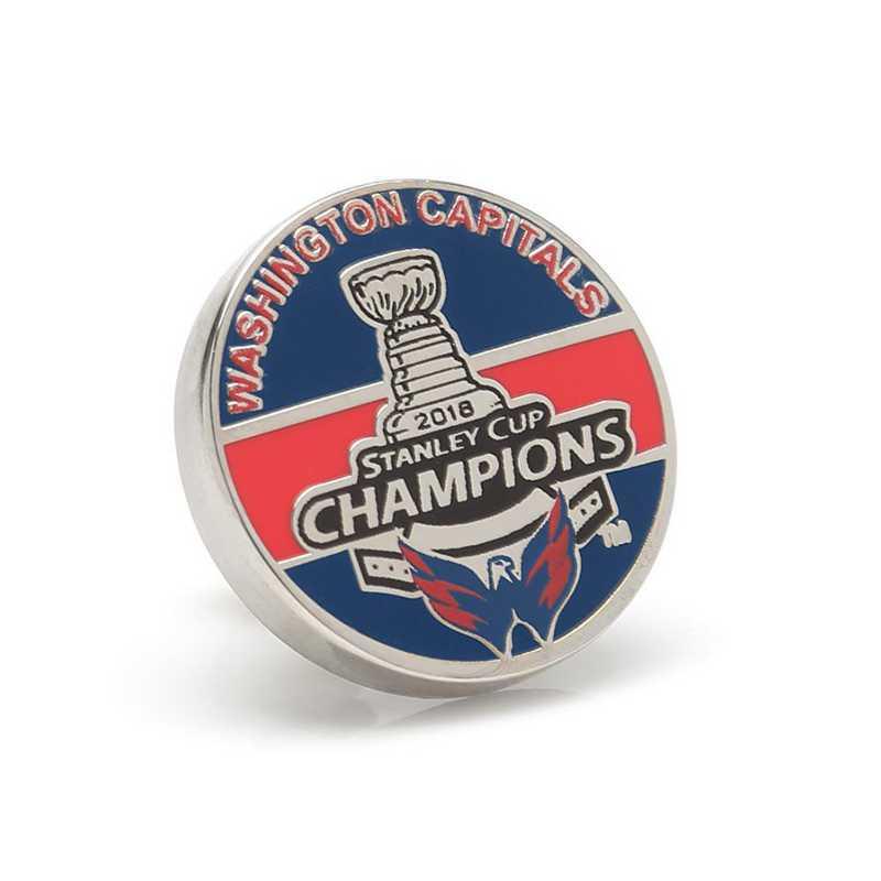 PD-CPT18-LP: 2018 Washington Capitals Stanley Cup Champions Lapel Pin