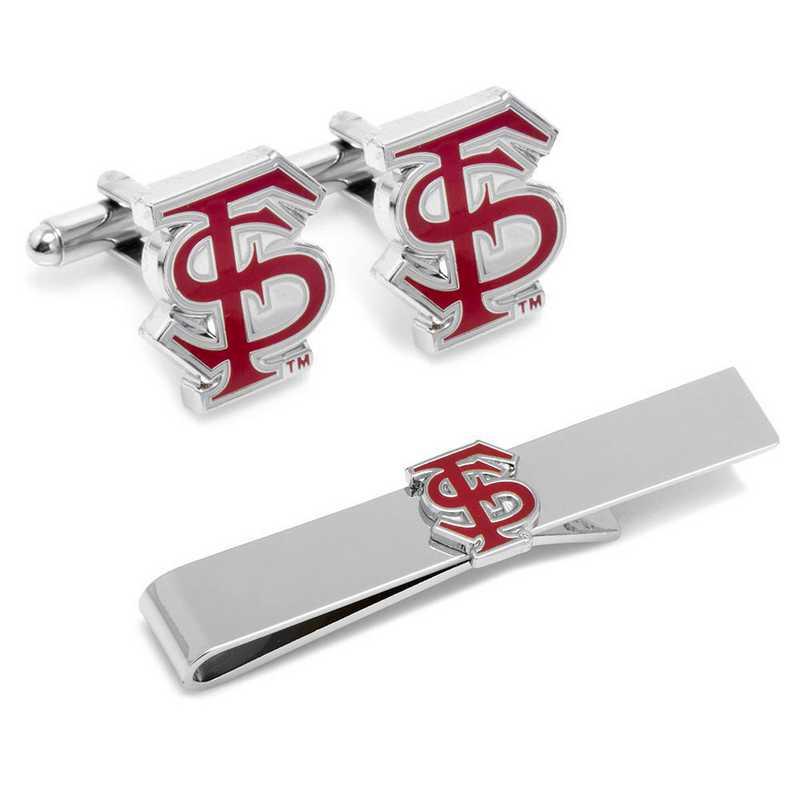 PD-FLS-CT: Florida State University Cufflinks and Tie Bar Gift Set