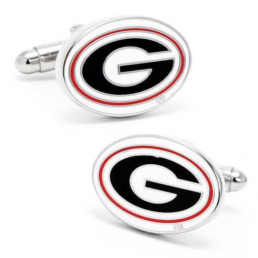 PD-GEO-SL: University of Georgia Bulldogs Cufflinks