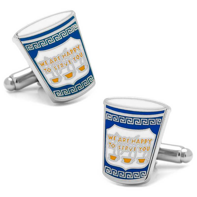 PD-GRCO-SL: Greek Coffee Cufflinks