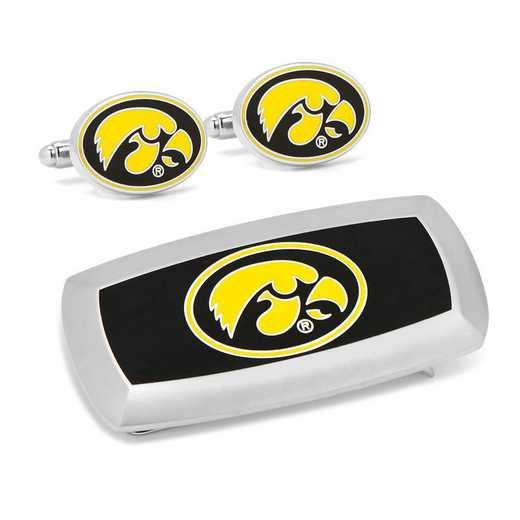 PD-IOW-CM2: University of Iowa Hawkeyes Cufflinks and Cushion Money Clip