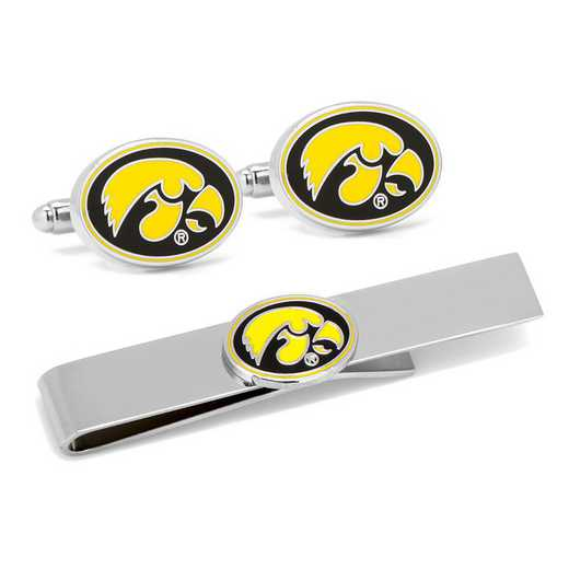 PD-IOW2-CT: University of Iowa Hawkeyes Cufflinks and Tie Bar Gift Set