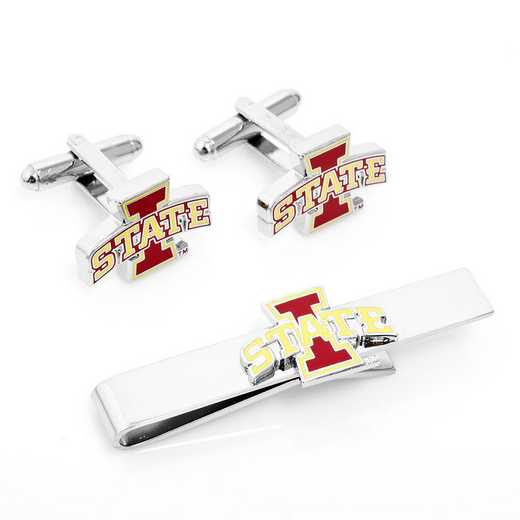 PD-ISC-CT: Iowa State Cyclones Cufflinks and Tie Bar Gift Set
