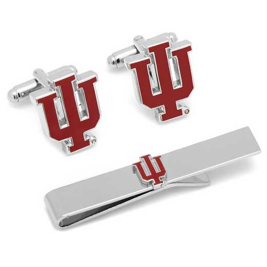 PD-IU-CT: Indiana University Hoosiers Cufflinks and Tie Bar Gift Set