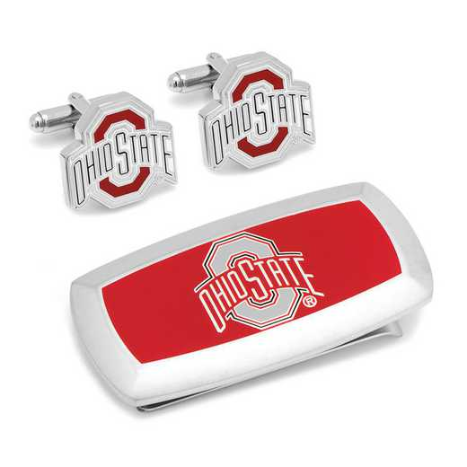 PD-OSU-CM2: Ohio State University Cufflinks and Cushion Money Clip Set