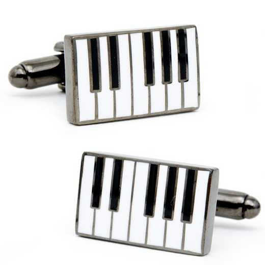 PD-PNO-SL: Enamel Piano Cufflinks