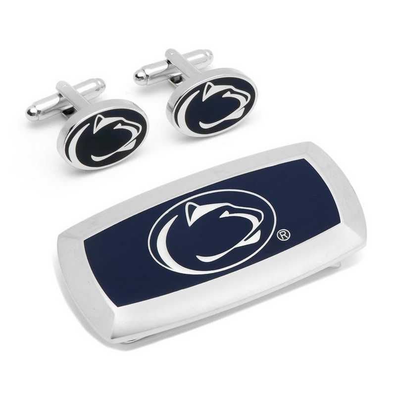 PD-PSU-CM2: Penn State Nittany Lion Cufflinks and Cushion Money Clip Set
