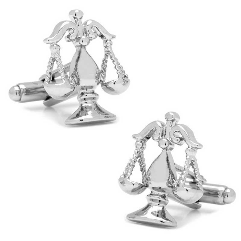 PD-SCL-SL: Silver Scales of Justice Cufflinks