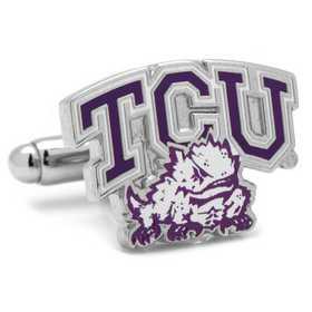 PD-TCU-SL: TCU Horned Frog Cufflinks