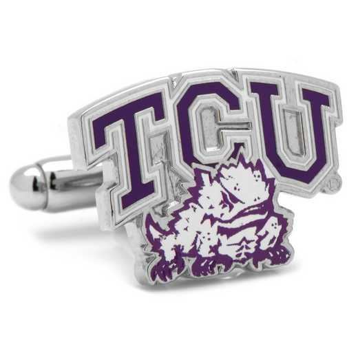 PD-TCU-SL: TCU Horned Frog Cufflinks