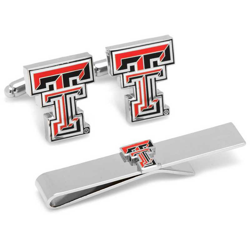 PD-TT-CT: Texas Tech University Cufflinks and Tie Bar Gift Set