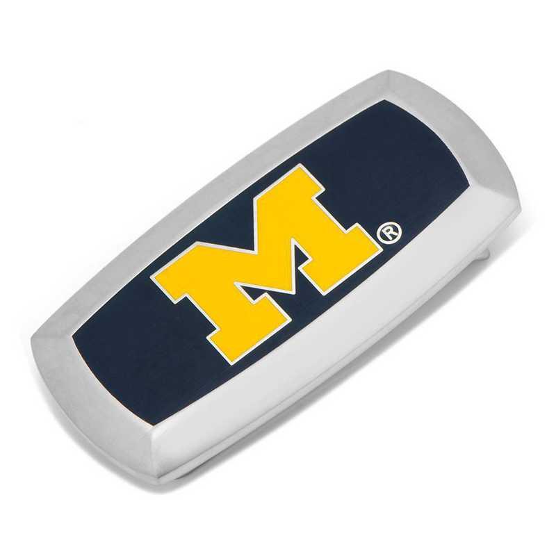 PD-UMW-MC2: University of Michigan Wolverines Cushion Money Clip