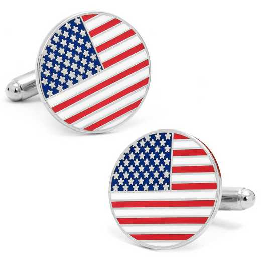 PD-USA-SL: American Flag Cufflinks