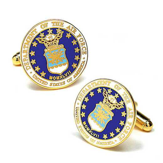 PD-USAF-GL: US Air Force Cufflinks