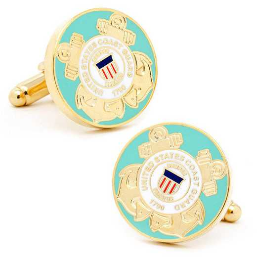 PD-USCG-GL: US Coast Guard Cufflinks