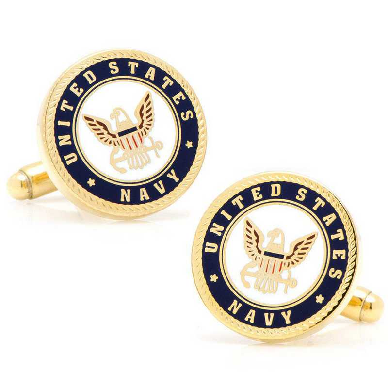 PD-USN-GL: Enamel US Navy Cufflinks